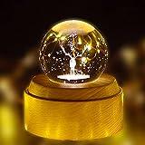 CHAPAI 3D Crystal Ball Music Box, Fantastische Projektion Von Wunderschönem Natürlichen Sound, Unterstützung Für Die Bluetooth-Verbindung, Geeignet Für Geschenke,Elk