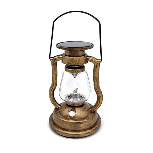 Want Want Lin 1 pz LED Solar Power Retro Lampada a Olio Lampada Lanterna Candela Impermeabile Ricaricabile Lampada da Esterno Elettronico Nightlight Home Decor Garden