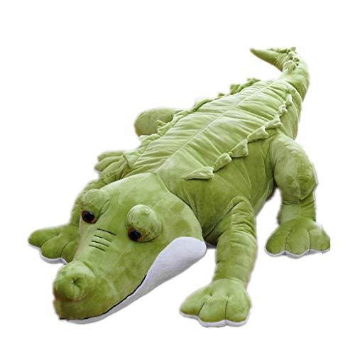 OKwife Peluche de cocodrilo de Peluche de Juguete Realista de cocodrilo Jumbo cojín Almohada Regalo para niños