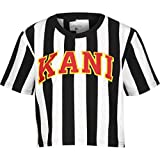 Karl Kani Damen T-Shirts College Stripe schwarz S
