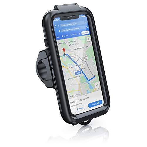 CSL - Fahrradhalterung kompatibel für Apple iPhone X XS 11 Pro - Fahrrad Tasche spritzwasserdichte - Handy Smartphone Halterung - geeignet für Bike Navigation - Touchscreen Unterstützung - wasserdicht