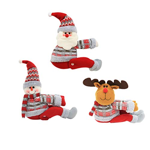 Healifty 3 Piezas Decoraciones navideñas Cortina Hebilla decoración de Ventana de Navidad para decoración del...