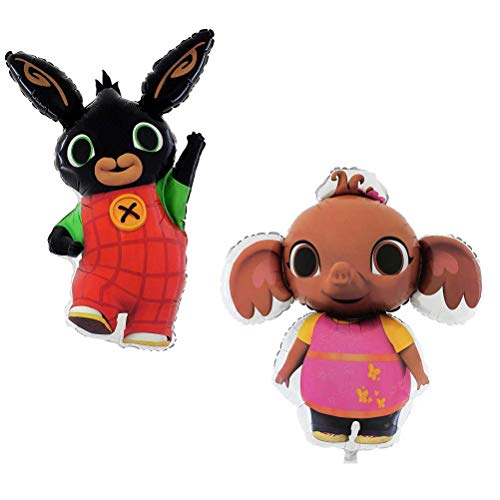 Toyland BALLOONSHOP Confezione da 2 Palloncini Bing - Bing Bunny & Sula Pig Foil Balloon - Bing Gifts - Baby Gifts - Baby Birthday