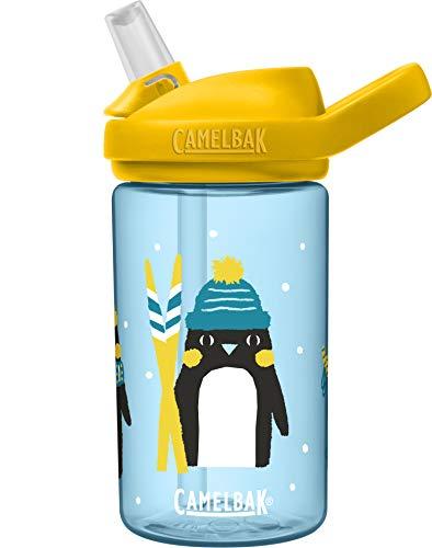 CamelBak Eddy+ Kids BPA-Free Water Bottle with Straw, 14oz, Penguin Patrol