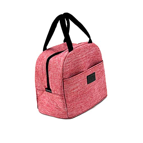 THEYIN Insulated Lunch Bag for Women Men Water Resistant Thermal Leak Proof Tote Cooler Bag Box for Work Outdoor Picnic Travel Beach (Pink)