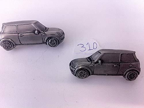 Mini Cooper Manschettenknöpfe Zinn-Manschettenknöpfe Oldtimer 3D ref310