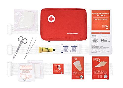 Kit di pronto soccorso per aziende (secondo la circolare del 2/2010 sulla sicurezza sul lavoro) o per auto, casa, campeggio, caccia, viaggi o sport Piccolo e compatto,