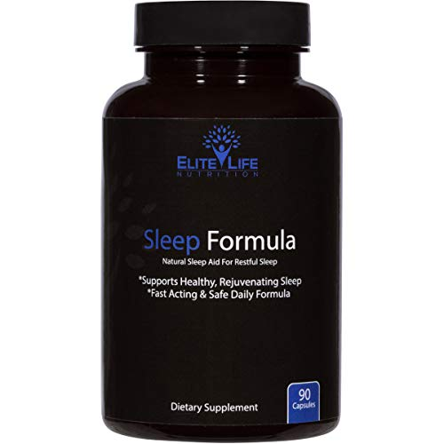 Sleep Formula Supplement - Best Natural Sleep Aid for Adults, Men and Women - Safe, Healthy, Fast-Acting Sleeping Pills - Restful Sleep, Non Habit Forming - End Insomnia, Feel Refreshed - 90 Capsules