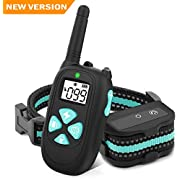 BESTHING Dog Training Collar, 1000ft Remote Dog Shock Collar, 100% Waterproof Rechargeable Beep/Vibra/Electric Shock (Green)