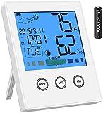 Newdora Misuratore Digitale di umidità e di Temperatura Igrometro e Termometro da Interno per Casa, Ufficio, Stanza dell'Asilo Nido