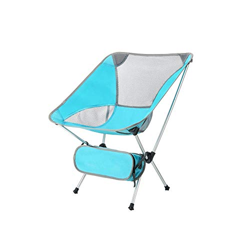 Ultralight Folding Chair Outdoor Portable Fishing Moon Chair Adult Simple Backrest Camp Sketching Leisure Chair Blue Chair Frame D-20-10-26