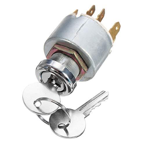 Forspero contactslot, 12 V, 4 posities, met sleutels, voor auto, motorfiets, boot, universeel