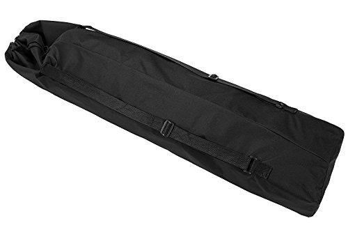 YS Sport Portable Skateboard Longboard Carry Bag - 2 Shoulder Bag Handy Backpack, Black