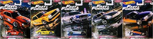 Hot Wheels Fast & Furious Rewind 5 Car Set Nissan Skyline Silva Datsun Mazda - HW Premium RR 1:64