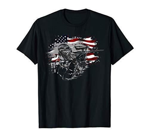 Paintball USA Flag Shooting lovers Gelatin Pellets Vintage T-Shirt