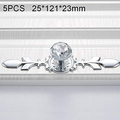 CWTIAN Accesorios de Muebles Manejar una Sola Corona Diamant Gabinete Mesa de la Puerta del gabinete del Vino Bola de Cristal (5 PCS / 8102)