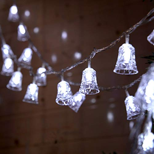 Shirt Luv 1.5M 10LED Christmas Bell String Lights Outdoor Party Garden Decoration Kitchen Dining Bar Accessories