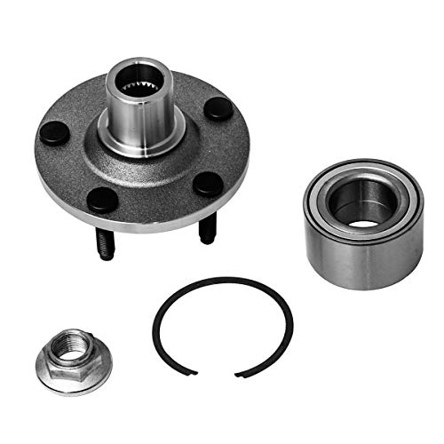Front Wheel Hub and Bearing Assembly Left or Right Compatible Ford Escape Mazda Tribute Mercury Mariner AUQDD 518515 [ 5 Lug Hub Repair Kit ]