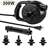 SanDope 300W Electric Air Pump with 5 Nozzles, 110V/300W, 1.2PSI Pressure Fast Filling Air Pump for Air Mattress, Swimming Rings, Airbeds, Rafts, Inflatable Sofas