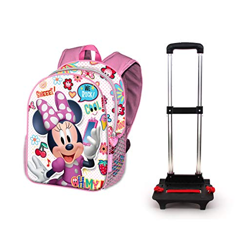 KARACTERMANIA Minnie Mouse OhMy!-Sac à dos Roulettes Basic Zaino Casual, 48 cm, 18.2 liters, Multicolore (Multicolour)