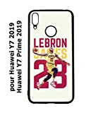 coque-personnalisable® Coque pour Huawei Y7 2019 / Y7 Prime 2019 Star Basket Lebron James Cavaliers...