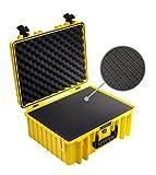 B&W Transportkoffer Outdoor Typ 6000 gelb mit Würfelschaum - wasserdicht nach IP67 Zertifizierung, staubdicht, bruchsicher und unverwüstlich