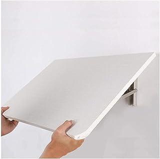 Table de salle à manger pliante murale flottante pour économiser de l'espace - 80 cm x 40 cm.