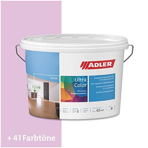 ADLER Ultra-Color Wandfarbe - Volltonfarbe und Abtönfarbe in 100+ Farbtönen - Vergissmeinnicht C12 049/3 Rosa 1 l Atmungsaktiv, Hochdeckend, Lösungsmittelfrei
