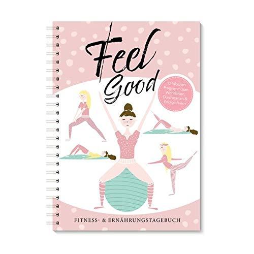 Trainingstagebuch & Ernährungsplaner| Rosa Fitnessplaner & Ernährungstagebuch für Frauen mit 12 Wochen Programm zum Wohlfühlen | Trainingstagebuch für ... & Ernährung: Fitness & Ernährungstagebuch