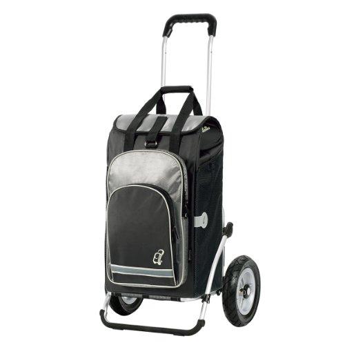Andersen Shopper Royal mit kugelgelagertem Luftrad 25 cm und 60 Liter Einkaufstasche Hydro schwarz mit Kühlfach