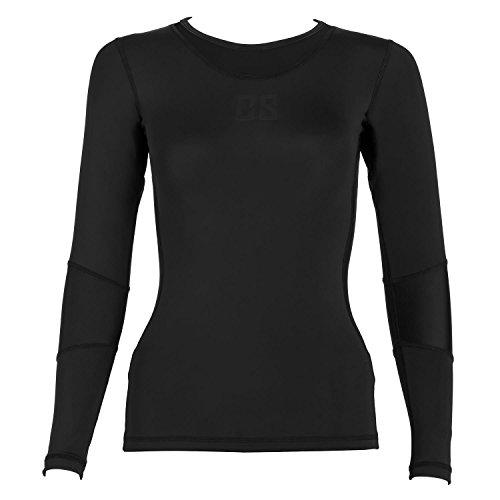 Capital Sports Beforce Kompressionsshirt Damen Oberteil Funktionsunterwäsche Langarm-Shirt für Frauen (Size M, Kompressions- und Laufunterwäsche, trägt Feuchtigkeit nach außen) schwarz
