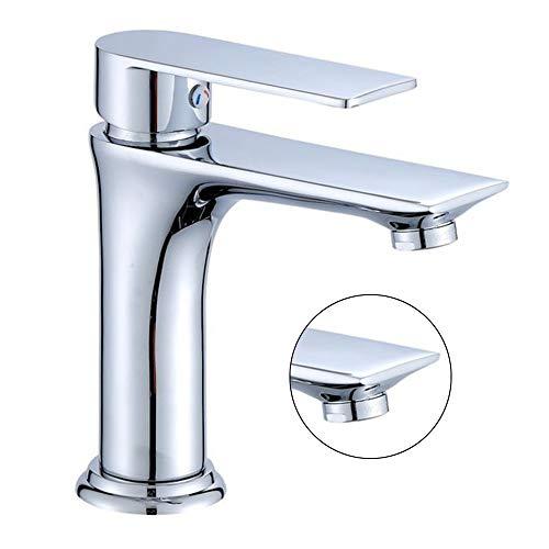 DEAN kwaliteits-metalen kraangat wastafel koperen badkamerkast badkamer-badkamer-kraan wastafel met warme en koude wastafel