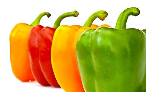 Graines rares Place Mixte Orange Vert Rouge Jaune Poivron, Paquet professionnel, 50 graines / Pack, légumes Tasty comestibles