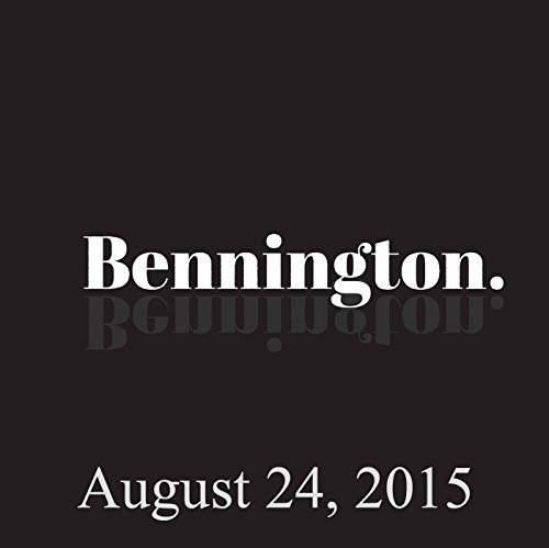 Bennington, Emma Willmann, August 24, 2015 audiobook cover art