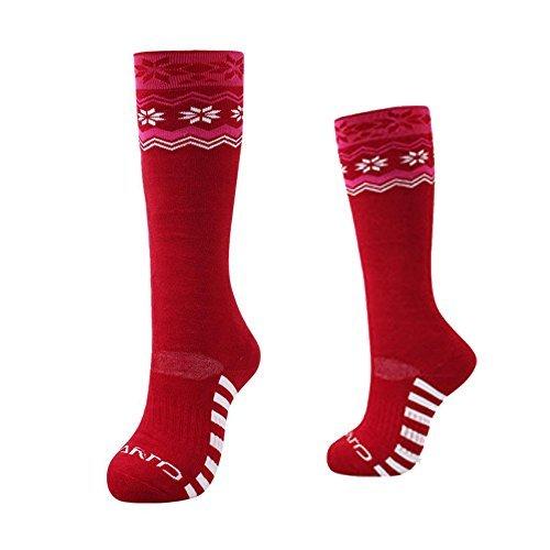 OFKPO レディース スキー靴下 ブーツソックス アウトドア 登山用 厚さ 防寒 通気性 スポーツ 冬 (1足組) 女性用