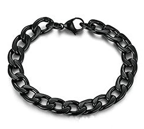 AmDxD Armband, Kette Armband Damen Schwarz aus Titan Stahl, für Ihn - Herren-Schmuck Männer, Schwarz