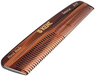 Kent R7T Handmade Comb - Fine and Coarse Toothed Pocket Comb Sawcut, 130mm (3 PACK)