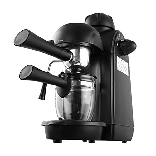 Ekspres do kawy i espresso, wielofunkcyjny przełącznik obrotowy, 800 W, 5 barów, odpowiedni do kawy mielonej lub saszetek, zintegrowany automatyczny spieniacz do mleka