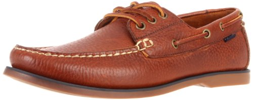 Polo Ralph Lauren Men's Bienne Boat Shoe, Tan Tumbled Leather, 9 D US