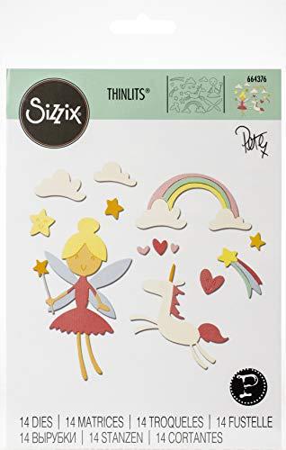 Sizzix 664376 Set di Fustelle Thinlits Fantasia di Pete Hughes, Multicolore, Taglia unica, 14 pz