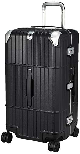 [エー・エル・アイ] スーツケース departure ハードキャリー 保証付 76L 5kg レザーマットブラック
