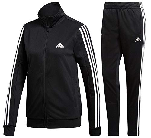 adidas Damen WTS Team Sports Tracksuit, Black/White, 2XS/L