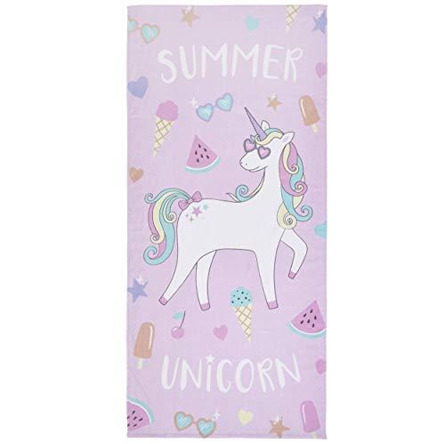 Catherine Lansfield Summer Unicorn Strandhandtuch, 76 x 160 cm