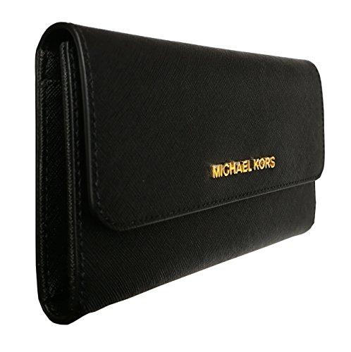Michael Kors Women's Jet Set Travel Large Trifold Wallet 3
