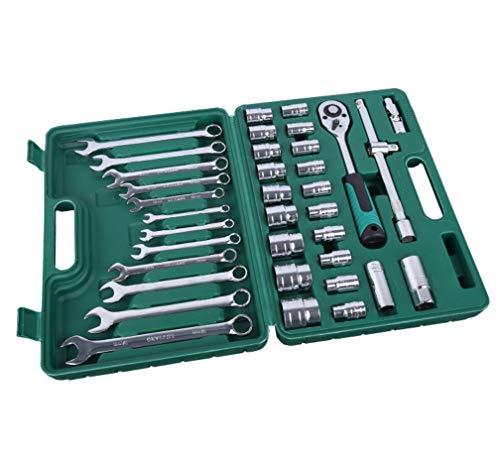 HYCy Outil de réparation de Voiture de 37 pièces Auto Outil de réparation Ensemble Prune clé à cliquet Set KIT kit de réparation avec boîte