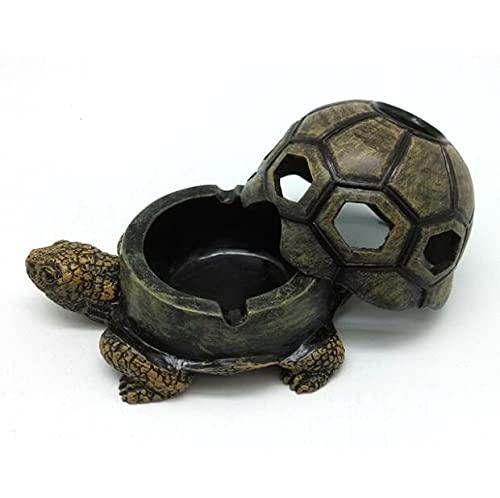 Cenicero de tortuga NA Cenicero de resina para caracol cenicero con tapa, cenicero de animales, cenicero de resina para manualidades, regalo