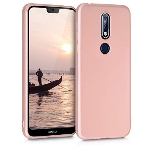 kwmobile Nokia 7.1 (2018) Hülle - Handyhülle für Nokia 7.1 (2018) - Handy Case in Metallic Rosegold