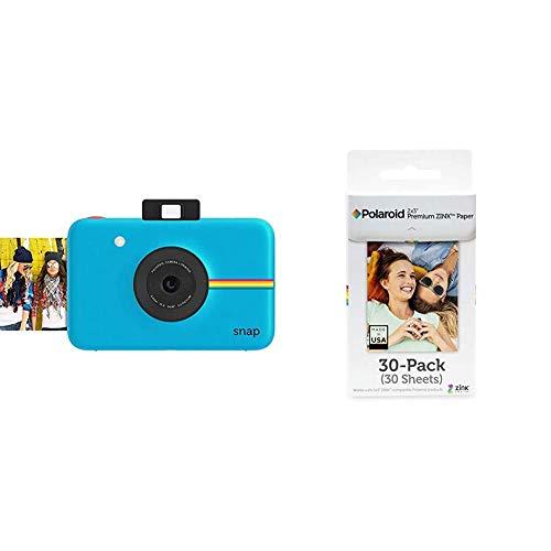 Polaroid Fotocamera Digitale a Scatto Istantaneo con Tecnologia di Stampa a Zero Inchiostro Zink, Blu & Premium ZINK Carta Fotografica 2 x 3 Pollici, Compatibile con Polaroid Snap, Snap Touch Z2300