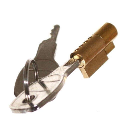 1 Mini Steckschloß für Anhänger Kugelkupplung Sicherung AHK Schloß Zylinderschloß 2 Schlüssel Neu Old-Harvest