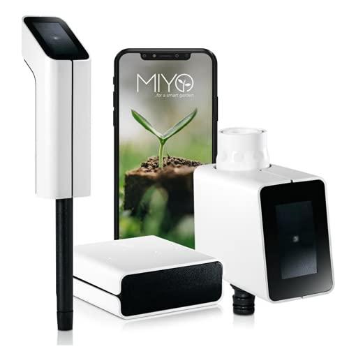 MIYO Starter Set: Smart Home Garten-Bewässerung, steuert automatisch Deine Rasenbewässerung, smartes Online Bewässerungssystem mit App, automatische Gartenbewässerung,...